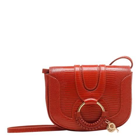 See by Chloe Faded Red Mini Embossed Hana Bag