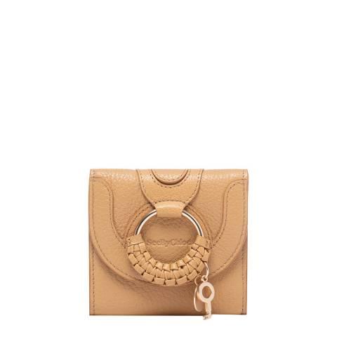 See by Chloe Soft Tan Hana Compact Square Wallet