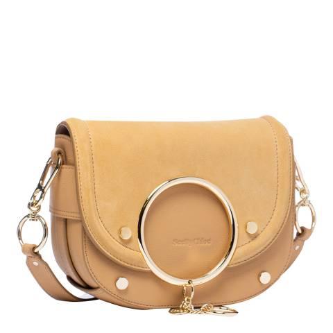 See by Chloe Soft Tan Mara Leather Crossbody Bag