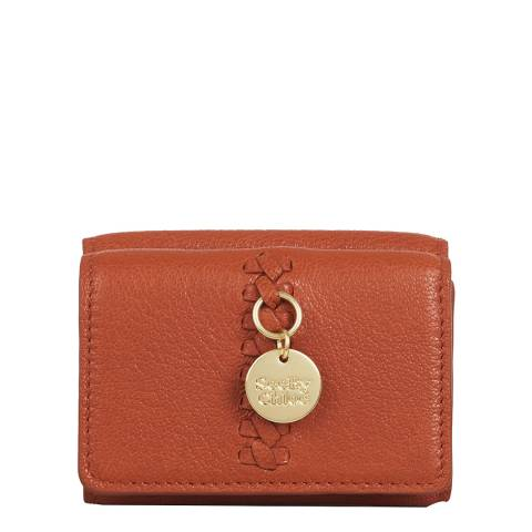See by Chloe Brick Red Tilda Mini Tri-Fold Wallet