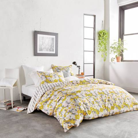 DKNY Cutout Floral King Duvet Cover, Yellow