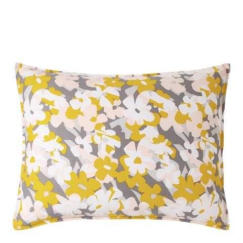 DKNY Cutout Floral Housewife Pillowcase, Yellow