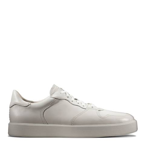 Clarks White Leather Hero Jump Casual Shoes