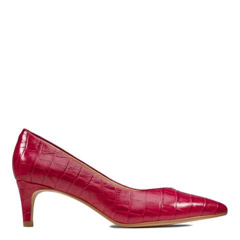 Clarks Fuchsia Leather Laina 55 Court Shoes