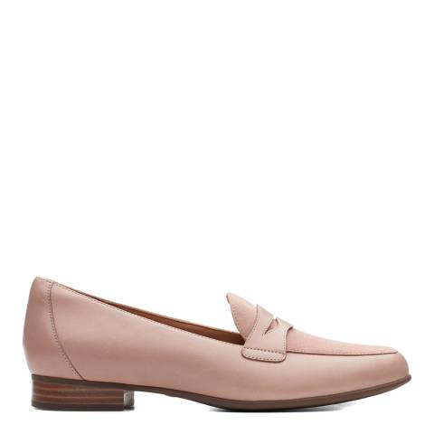 Clarks Dusty Pink Leather Un Blush Go Loafers