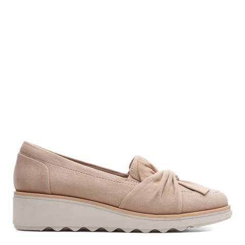 Clarks Sand Suede Sharon Dasher Loafers