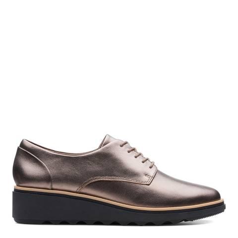 Clarks Brown Metallic Leather Sharon Noel Shoes