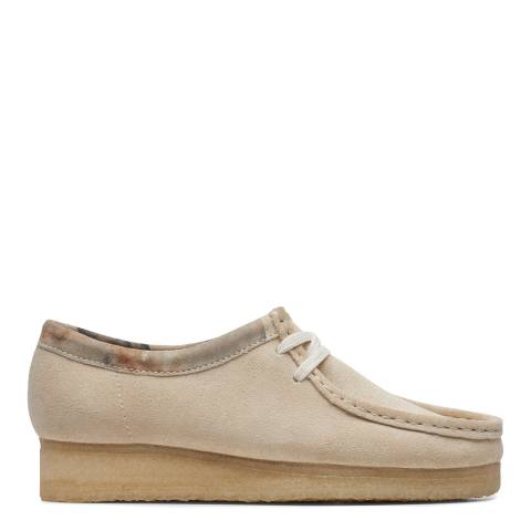 Clarks Originals Off White Wallabee Moccasin Shoes