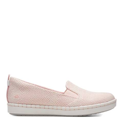 Clarks Pink Step Glow Slip On Shoes