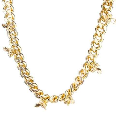 Ted Baker Pale Gold Bechela Busy Bee Necklace