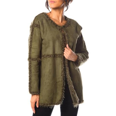 Cosy Winter Khaki Mufflier Jacket