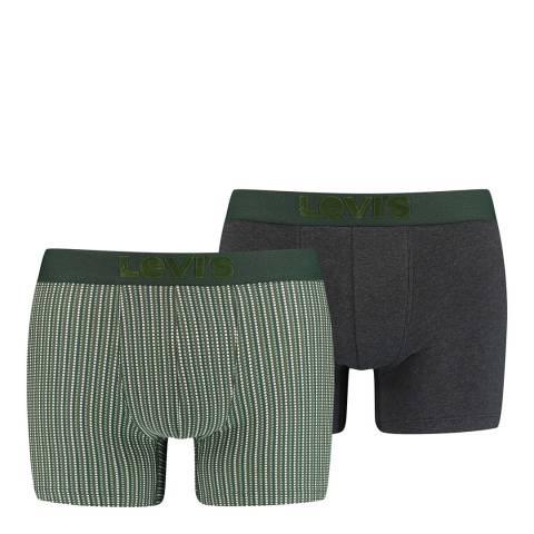 Levi's Grey/Dark Green 2 Pack Boxer Brief