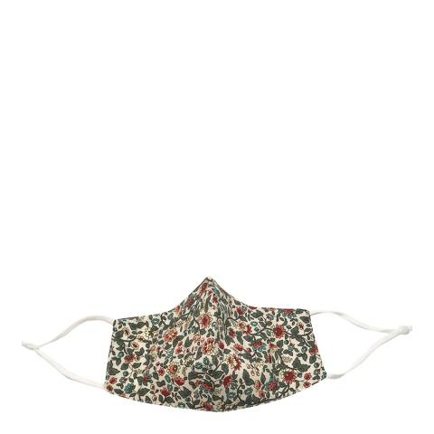 JayLey Collection Red/Green Floral Cotton Face Mask