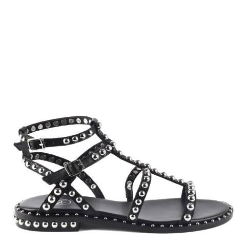 ASH Black Leather Precious Sandals