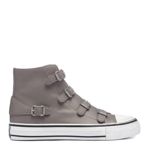 ASH Perkish Grey Wax Virgin Hi Top Sneaker