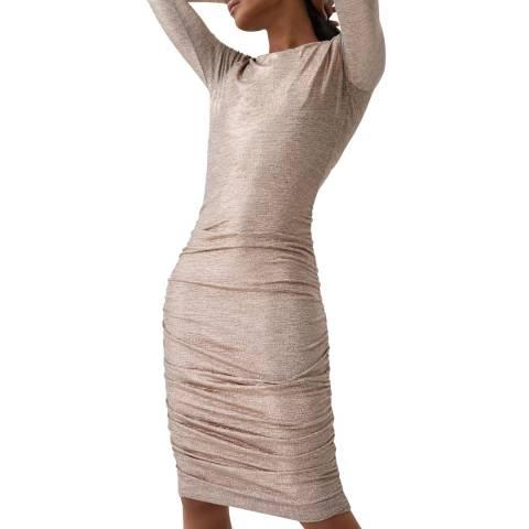 Melissa Odabash Rose Gold Taylor Fitted Dress