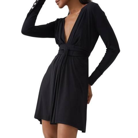 Melissa Odabash Black Violet Mini Dress