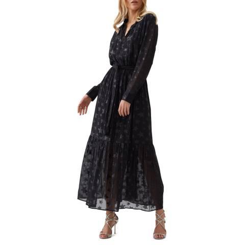 Melissa Odabash Black Zoe Silk Blend Maxi Dress