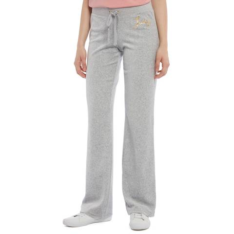 Juicy Couture Grey Velour Wide Legged Joggers