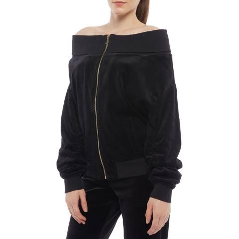 Juicy Couture Black Off The Shoulder Sweatshirt