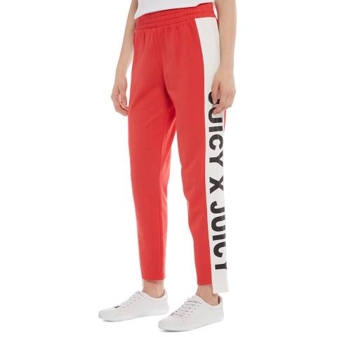 Juicy Couture Red Side Panel Logo Joggers