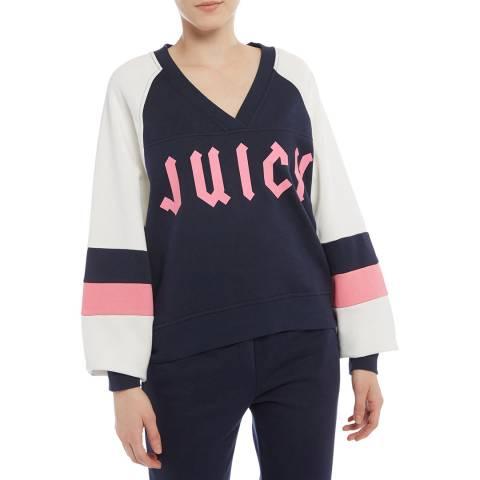 Juicy Couture Black/White V-Neck Sweatshirt