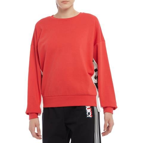 Juicy Couture Red Logo Side Panel Sweatshirt