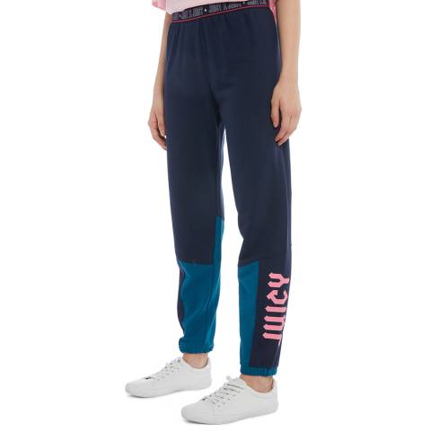 Juicy Couture Navy Logo Joggers