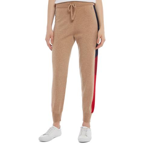 Juicy Couture Beige Cashmere Side Panel Joggers