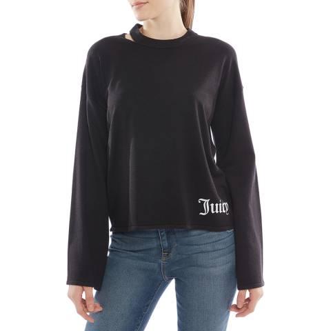 Juicy Couture Navy Flared Cuff Sweatshirt