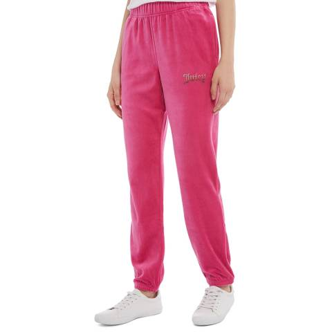 Juicy Couture Pink Cotton Velour Joggers