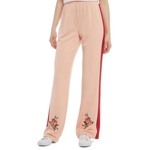 Juicy Couture Pink Flared Flower Joggers