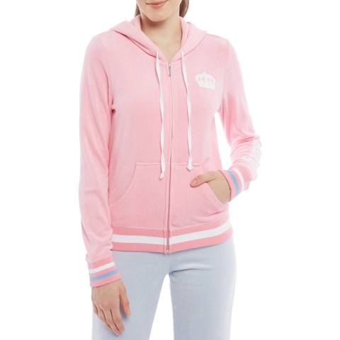 Juicy Couture Pink Terry Full Zip Hoodie