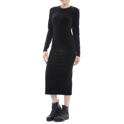 Juicy Couture Black Midi Long Sleeve Dress