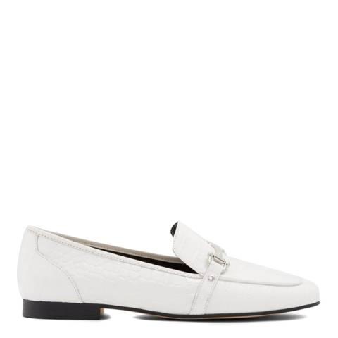 Aldo White Croc Astawia Loafers