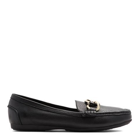 Aldo Black Leather Isyniel Loafers