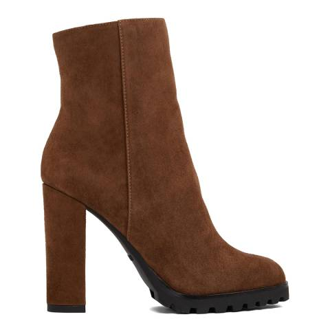 Aldo Brown Leather Tealith Ankle Boots