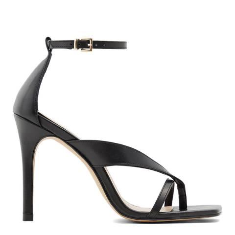 Aldo Black Leather Lexie Heeled Sandals