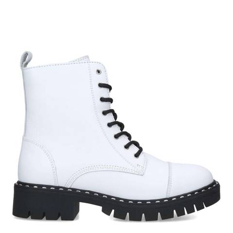 Aldo White Gwemma Leather Boots