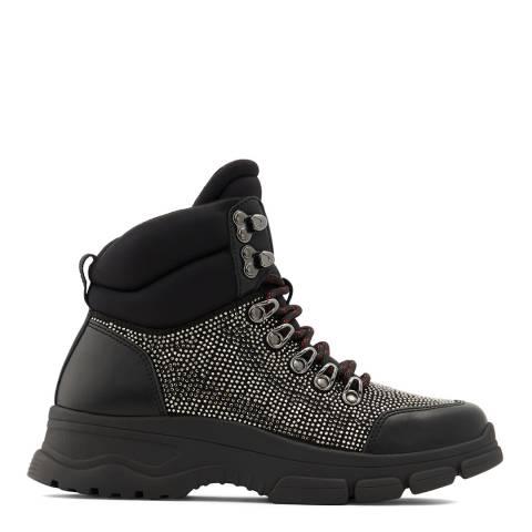 Aldo Black/Silver Hohenstadt Ankle Boots
