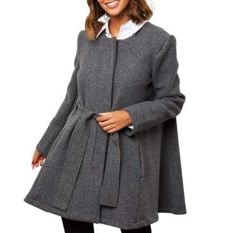 Comptoir du Manteau Anthracite Wool Blend Belted Coat