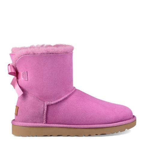 UGG Fuschia Pink Mini Bailey Bow II Boot