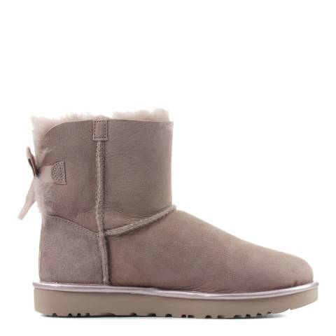 UGG Beige Mini Bailey Bow II Metallic Boot