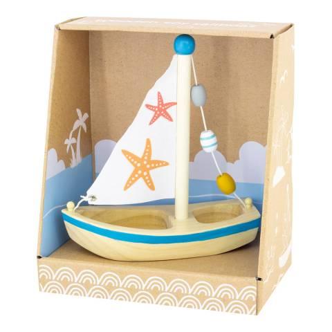 Ulysse Blue Wooden Sailboat