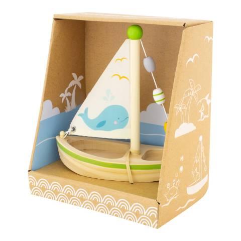 Ulysse Green Wooden Sailboat