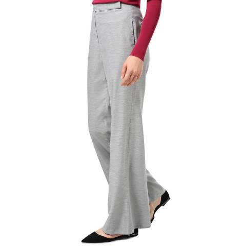 STEFANEL Light Grey Wide Leg Trousers