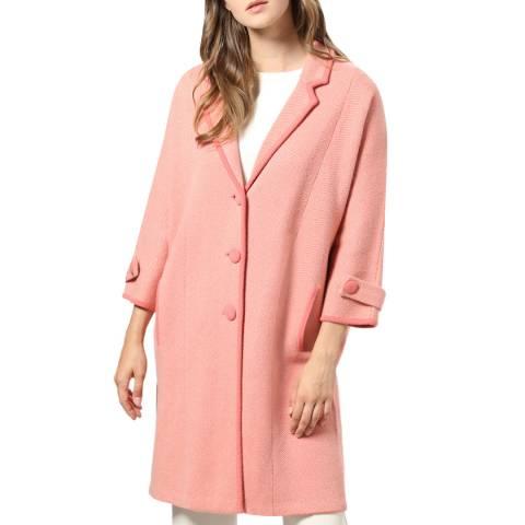 STEFANEL Pink Wool Blend Coat