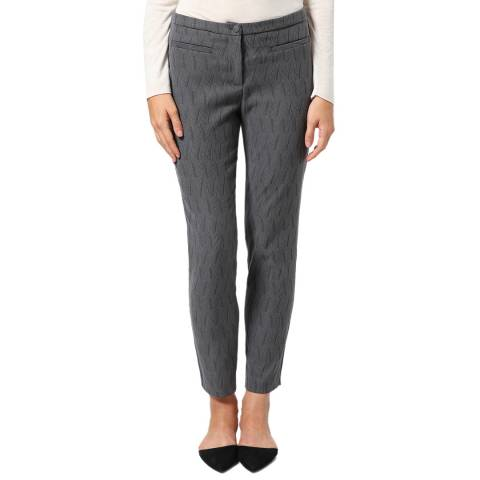 STEFANEL Grey Stretch Pattern Trousers