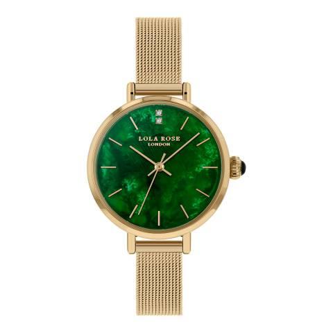 Lola Rose Gold Emerald Mesh Watch 30mm