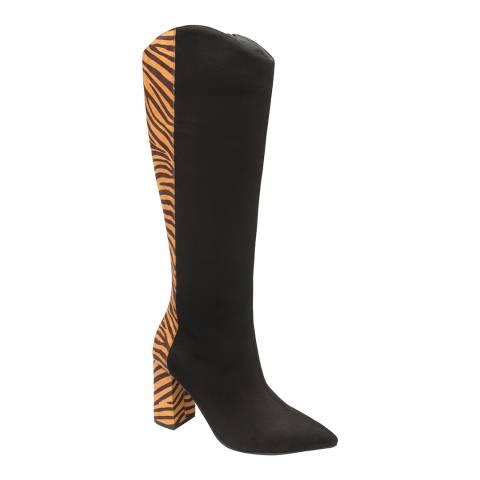 Ravel Black Zebra Grande Knee High Boots